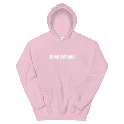 unisex hoodie, dreamfreak logo front