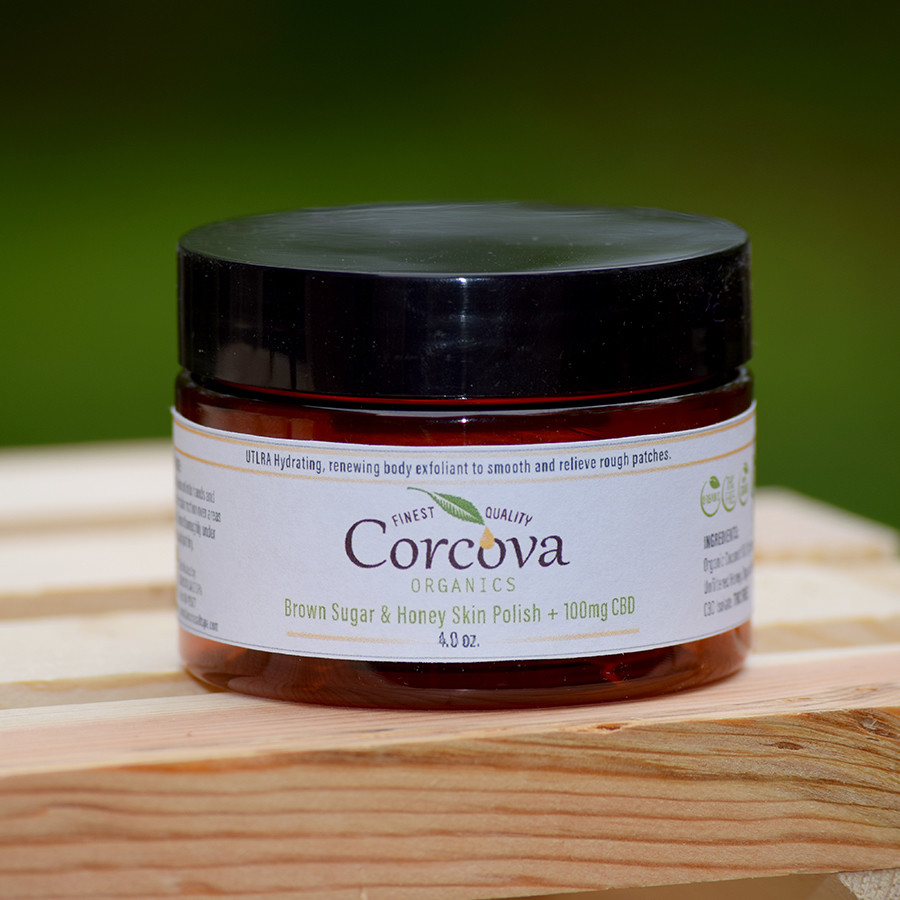 Brown Sugar & Honey Skin Polish + 100mg CBD - 4oz