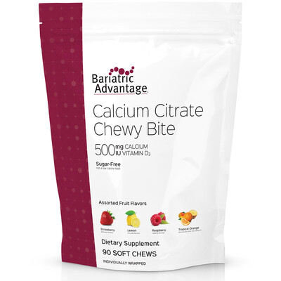 Bariatric Advantage Assorted Fruity Flavors Calcium Citrate Chewy 500mg