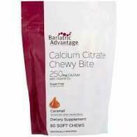 Bariatric Advantage Caramel Calcium Chewy 500mg 90ct