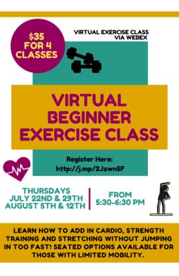 Virtual Beginner Exercise Class