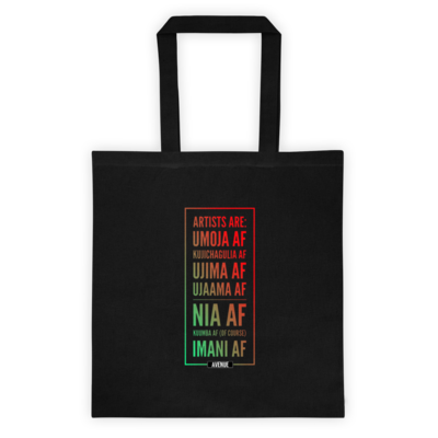 Kwanzaa AF Tote bag