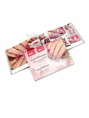 Catalogue #10 Design for short nails. Zhostovo painting.