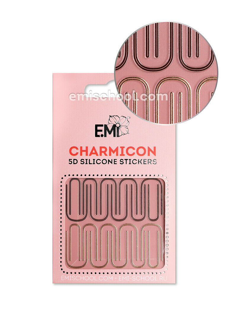 Charmicon 3D Silicone Stickers #97 Bent Lines