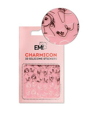 Charmicon 3D Silicone Stickers #124 Faces