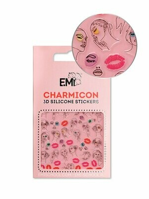 Charmicon 3D Silicone Stickers #123 Lips & Faces