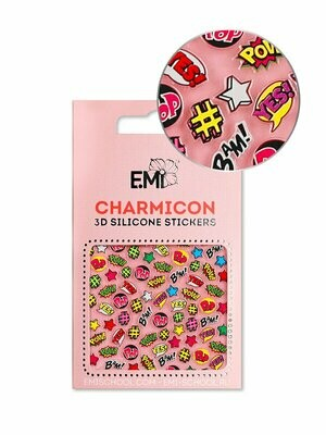 Charmicon 3D Silicone Stickers #128 Pop Art