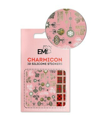 Charmicon 3D Silicone Stickers #149 New Year Mood