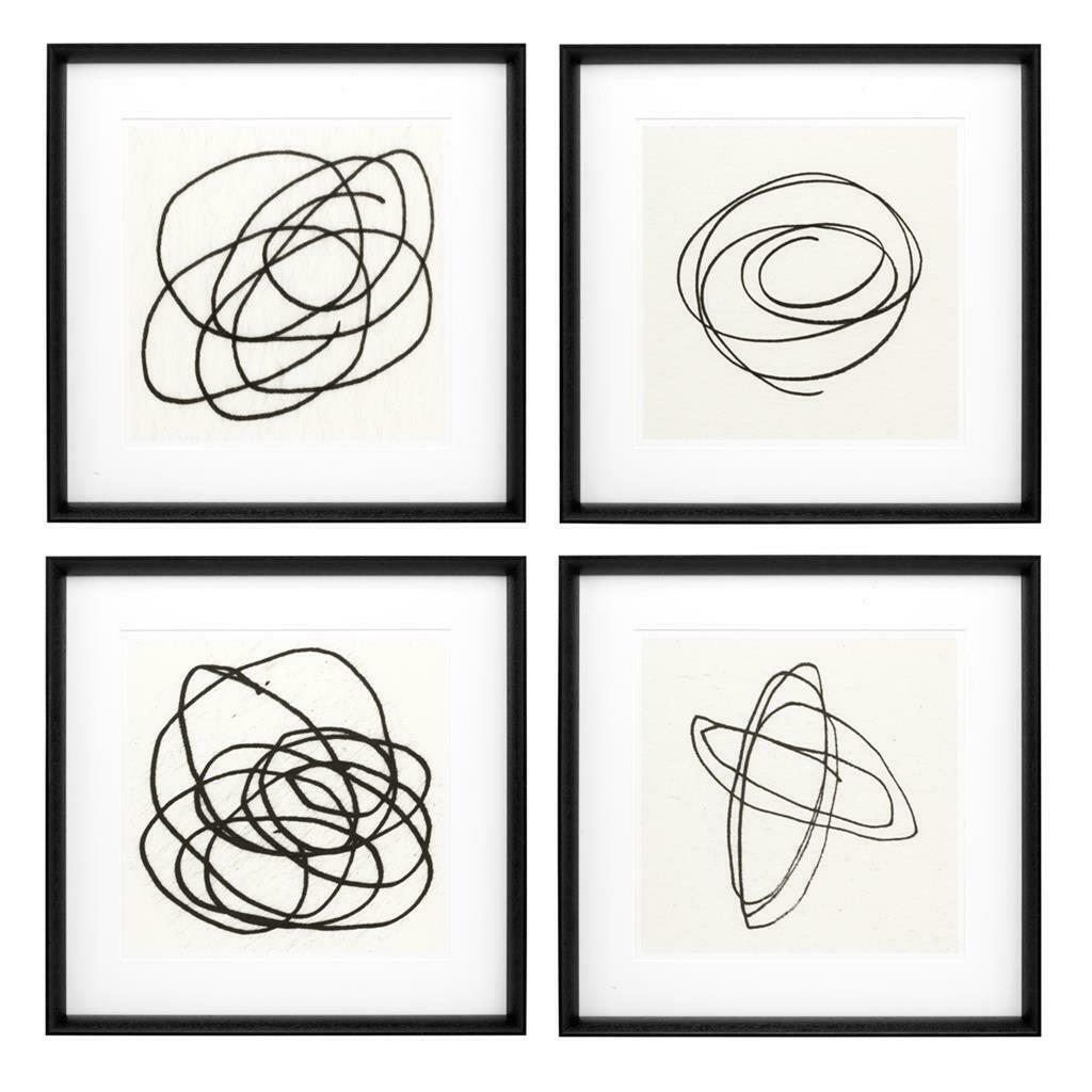"""Картина (принт)EC227 """"Eichholtz"""" Black&White Collection (4 шт.)"""