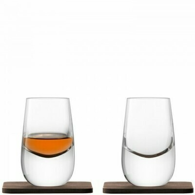 НАБОР из 2 РЮМОК на подставках Whisky 80 мл.  LSA