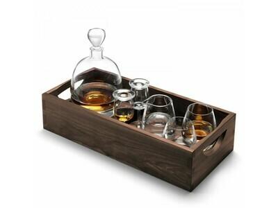 НАБОР ДЛЯ ВИСКИ с деревянным подносом Islay Whisky LSA