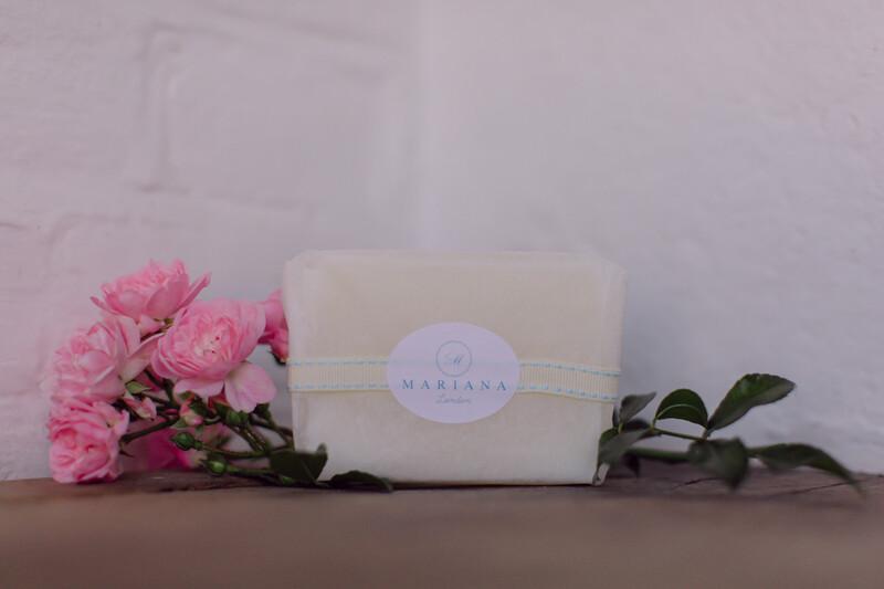 Rose Geranium and Bergamot Soap (approx 110g)