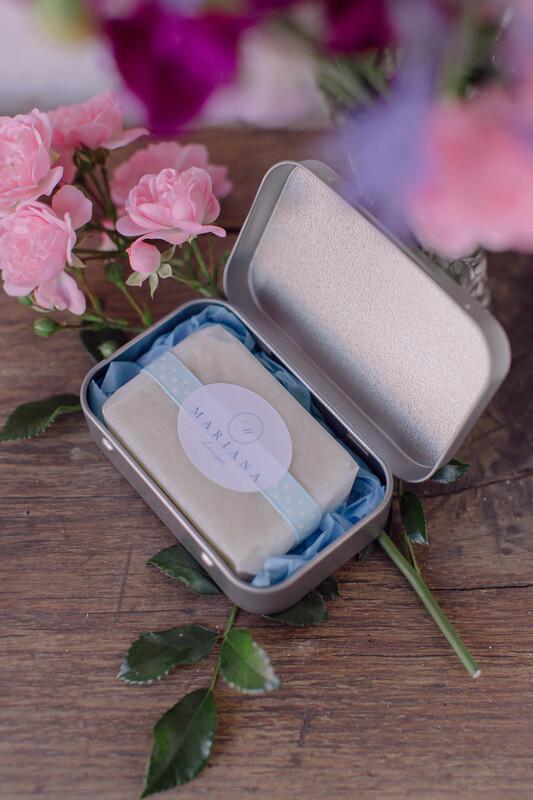 Lavender and May Chang Travel Soap Tin