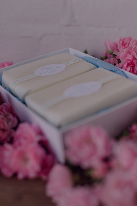Two Assorted 110g soaps in a gift box
