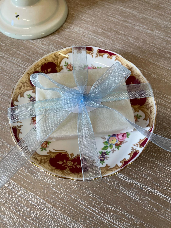 Vintage English Bone China Soap Dish and  Soap