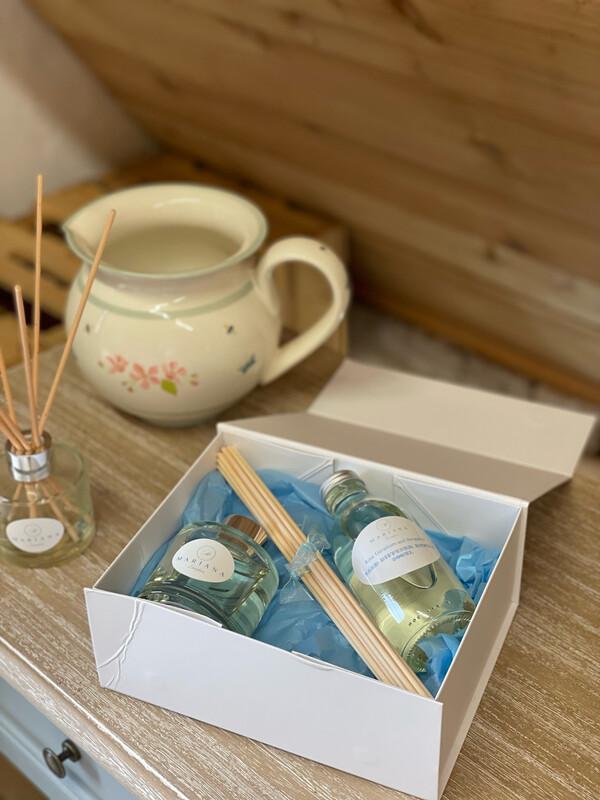Rose Geranium and Bergamot Reed Diffuser Gift Box