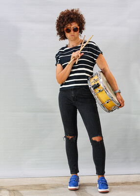 Licorice Stripe Katherine Tee Two Week Delivery