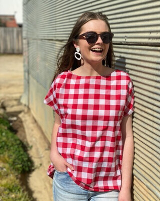 Gingham Betsy Tee XL