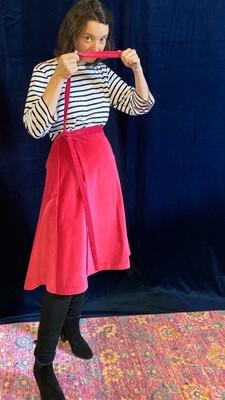 Flamingo Velvet Skirt $190 down $95