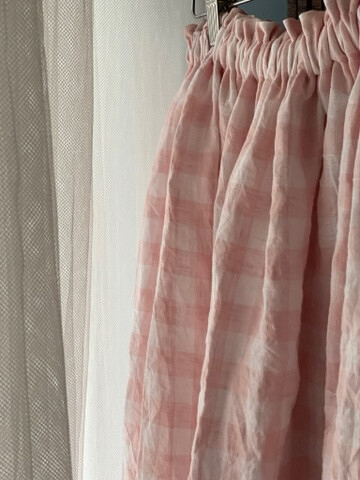 Forage Skirt In Marshmallow Linen