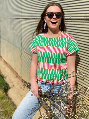 Penny Candy Tee In Peppermint