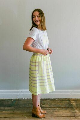 The Stripe Posy Skirt