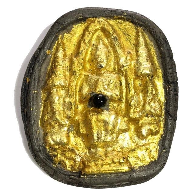 Pra Yord Khun Prohm - Maitreya Buddha - Pim Yai Wicha Khao Or Ongk Kroo - Gold Leaf & Lek Lai Bead inserted - Traimas 2556 BE Edition - Luang Por Prohm - Wat Ban Suan
