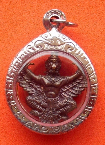 Paya Krut 'Paetch Mueang Dtai' (Diamond of the South) - Luang Por Pan - Wat Sai Khaw 2552 BE (Songkhla) - fancy steel casing included in price