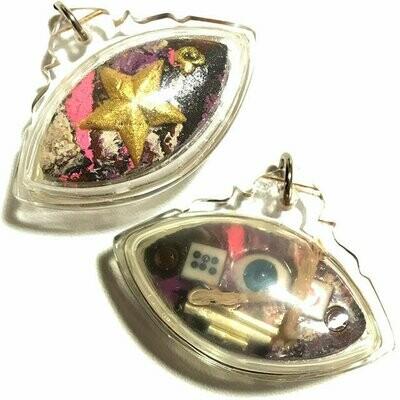 Duang Daw Ta Maha Sethee Eye of Millionaire Amulet in Prai Oil for Gambling & Providence Luang Phu Yen Wat Geng Sadao