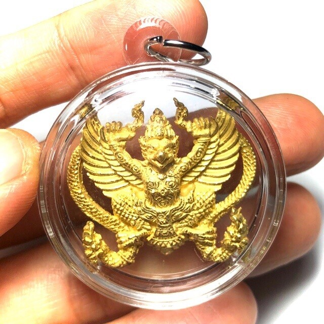 Paya Krut Song Nak Nuea Samrit Chup Tong Pon Sai Garuda with Nagas Amulet 2553 BE Pra Ajarn Amnaj