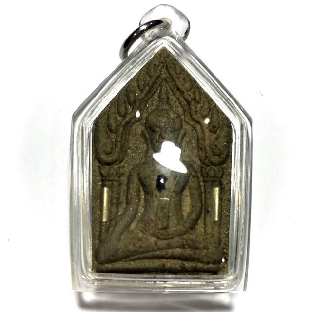 Pra Khun Phaen Hlang Pra Ngang Dta Daeng - Nuea Wan Pasom Pong Mai Takian (Sacred Herb + Takian Tree powder) Fang Ploi Takrut Ngern (Garnets and silver Takrut) - Run Mee Ngern Tong - Luang Phu Key