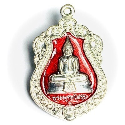 Rian Sema Yai Luang Por Sotorn Code Sor First Edition Solid Silver Red Rachawadee Enamels Limited Series Code Stamp Wat Saman 2561 BE