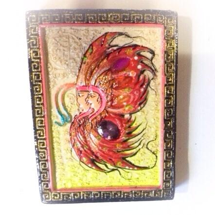 Taep Fa Din Pim Jumbo Butterfly King - Precious Gems + 2 Silver Takrut - Kroo Ba Krissana - Kammathana 56 Edition