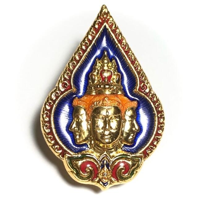 Khem Glad Prohm Badtiharn (Brahmas Miracle pin Medal) - Luang Por Poon - Wat Pai Lom (Nakorn Pathom)