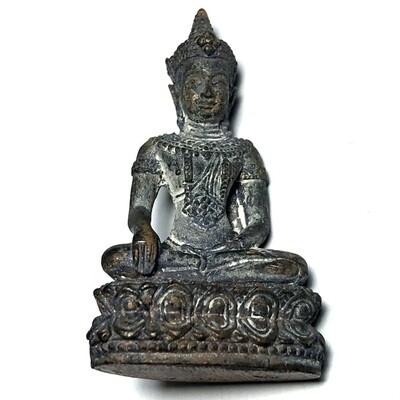Pra Kring Dhammika Racha 4 x 2 Cm Nuea Nava Loha Pork Phiw Sethee Nang Paya 2556 BE Edition Wat Nang Paya