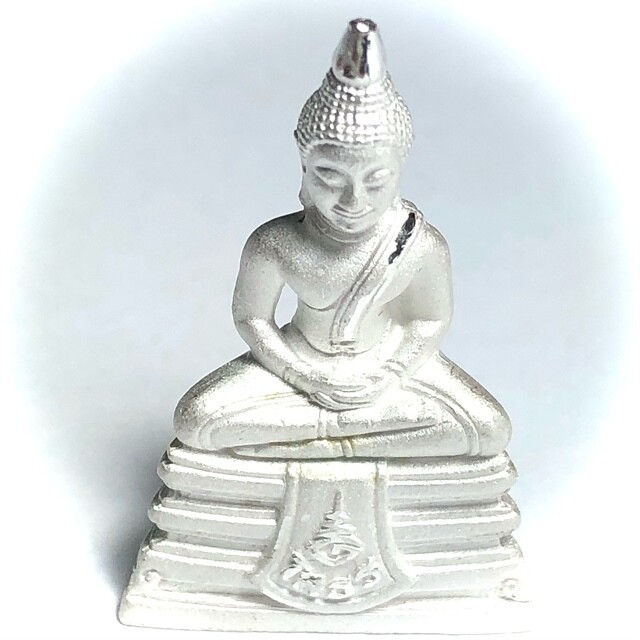 Luang Por Sotorn 1st Edition Buddha Statuette Solid Silver Blessing at Wat Sotorn 2561 BE Empowered by Many Great Monks Wat Saman
