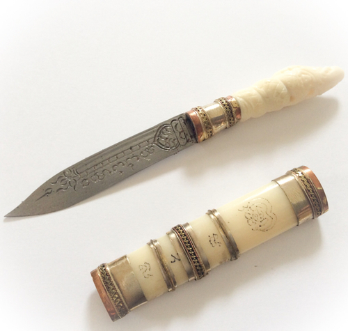 Mitmor Daam Paya Nak Carved Bone And Yant Blade Luang Por Prohm Wat Ban Suan Asrom Por Taw Guwen Store Buddha Magic