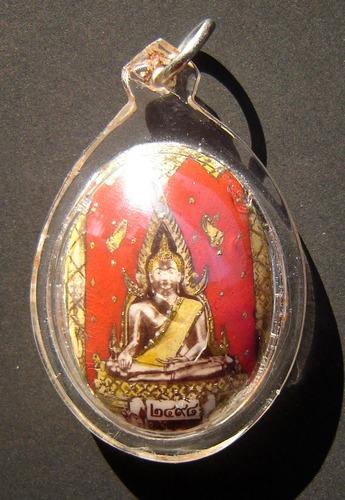 Locket Pra Putta Chinarat  with 3 Takrut (sam kasat), Nakprok and Civara Robe - Luang Phu Doo Wat Sakae 2498 BE