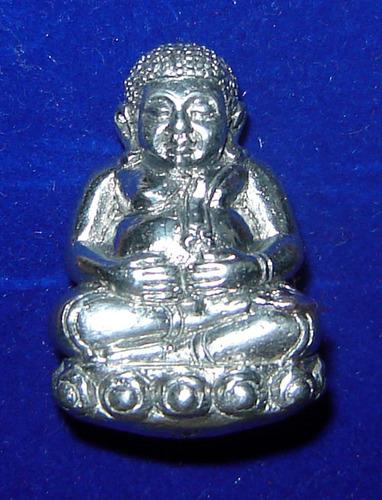 Pra Sangkajjai Wealthy Buddha - Nuea Rae Ngern Larn (Millionaire Mineral)  - Run Gathin Jao Sua 2554 BE - Por Tan Prohm - Wat Palanupap 2 x 2.7 Cm - Free Casing + Shipping Included #164