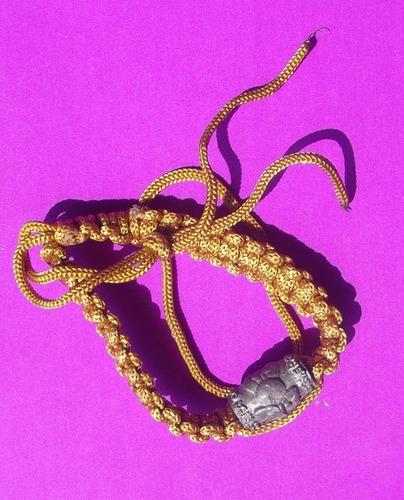 Look Sakot Khor Mer Nang Pim  Prai Spirit in bead Takrut bracelet for riches and protection, winning punitive disputes - Run Sao Ha 2553 BE - Luang Phu Ap