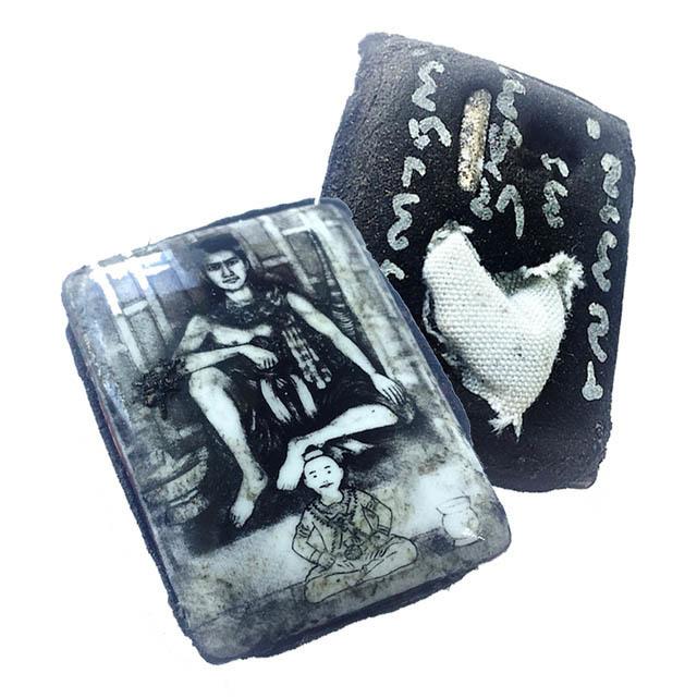 Locket Pra Phun Phaen Boroma Sukh - filled with sacred Maha Saneh Powders, Corpse Cloth + Takrut - only 300 Made - Ajarn Meng Khun Phaen 2555 BE