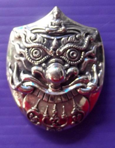 Rahu Kam Duang - Nuea Tong Khaw - 3 Takrut Serm Duang + Garuda - 'Baramee Phu Jao' edition 2555 BE - Luang Phu Naen Kampiro - Wat Ban Kaset Tung Sethee
