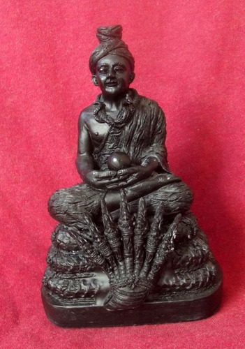 Roop Muean Phu Sri Sutto Nakarach (Naga Rajah - King of the Nagas) 3 x 5 Inches Bucha statue - Nuea Rae (Sacred Resin) Turtle amulet inserted in base - Luang Por Tong Parn