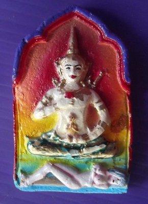 Khun Phaen Glom Nang Sanaeh (Ba Cha Dta Unisex Love Charm) - Nuea Pong Prai Maha Phuudt Fang Takrut 6 Dork (hand painted with six silver Takrut spells) - Luang Ta Naen - Susaan Boran Sri Saket