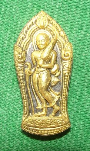 Pra Sivali - 'Mai Mee Od' (never go without edition) - Nuea Pong Toop Bucha Pra Taat (Incense powders from monks praying to Buddha Relics) - Luang Por Raks (Luck) Wat Sutawaat Vipassana 2554 BE
