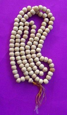 Prakam 108 Met (108 bead Buddhist Rosary) - Nuea Mai Gae (carved wood) - Asrom Por Taw Guwen - Total Length 70 Cm