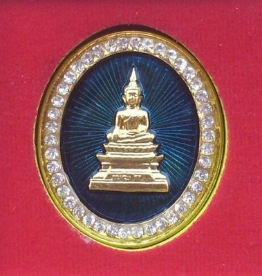 Rian Tee Raleuk Pra Luang Por Pra Sai Badge Amulet Baramee Por edition 2552 BE Wat Po Chai