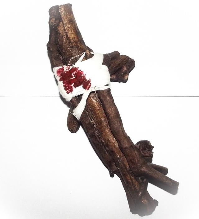 Hun Payont Mai Ga Fak Rak - Enchanted Sacred Treewood Spellbound Ghost Soldier 10 Inches - Por Tan Kloi - Less Than 2 Dozen Made