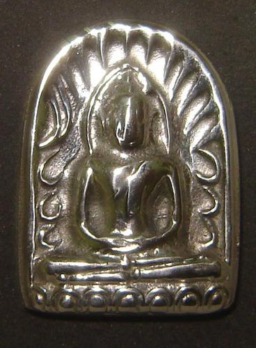 Pra Sum Gor (Benjapakee amulet) - Nuea Lek Lai Nam Neung See Ngern Yuan (Buddha in Meditation made from pure Lek Lai) - Luang Por Hone (Huan) - Wat Putai Sawan