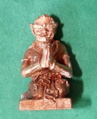 Nang Panturadt Adtithaan Khor Lap Riak Sap Loi Ongk (Mini Statuette Amulet Yaksa Lady Praying for Lucky Fortunes) - Jinda Mani Sap Mantra Empowerment - Luang Por Somburn Chudtintaro